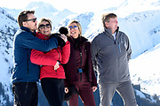 Fotosessie met de koninklijke familie in Lech /// Photoshoot with the Dutch royal family in Lech .<br /> <br /> Op de foto/ On the photo: Koningin Maxima, Koning Willem Alexander, Prins Constantijn en Prinses Laurentien ///// Queen Maxima, King Willem Alexander, Prince Constantine and Princess Laurentien