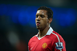MANCHESTER, ENGLAND - Wednesday, November 10, 2010: Manchester United's Nani during the Premiership match at the City of Manchester Stadium. (Pic by: Chris Brunskill/Propaganda)