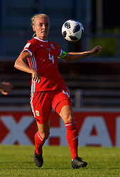 NEWPORT, WALES - Tuesday, June 12, 2018: Wales' captain Sophie Ingle during the FIFA Women's World Cup 2019 Qualifying Round Group 1 match between Wales and Russia at Newport Stadium. (Pic by David Rawcliffe/Propaganda)