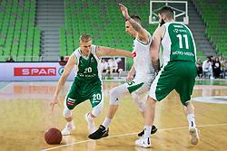 Maj Kovacevic of KK Krka during basketball match between KK Petrol Olimpija and KK Krka in 1st Final game of Liga Nova KBM za prvaka 2017/18, on May 19, 2018 in Arena Stozice, Ljubljana, Slovenia. Photo by Urban Urbanc / Sportida