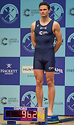 London. Great Britain.  <br /> Heavyist, Oxford Blue Boat. 4: Joshua BUGAJSKI. 2016 Varsity Boat Race. Crew announcement and  crew weigh-in. Central Hall. Westminster Central London,  Tuesday  01/03/2016  <br /> <br /> [Mandatory Credit, Peter Spurrier/ Intersport Images].