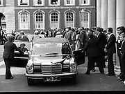 EEC Leaders Meet At Dublin Castle.   (N4)..1979..29.11.1979..11.29.1979..29th November 1979..At Dublin Castle the leaders of the countries within the EEC held a summit conference to discuss issues which would affect the EEC over the forthcoming years..The Netherlands Dr C A van der Klaauw is pictured as he arrives for the EEC summit at Dublin Castle.