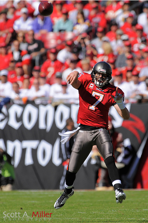 Nov. 16, 2008; Tampa, FL, USA; Tampa Bay Buccaneers quarterback Jeff Garcia (7) in action during the Bucs game against the Minnesota Vikings at Raymond James Stadium. The Bucs won 19-13. ...©2008 Scott A. Miller