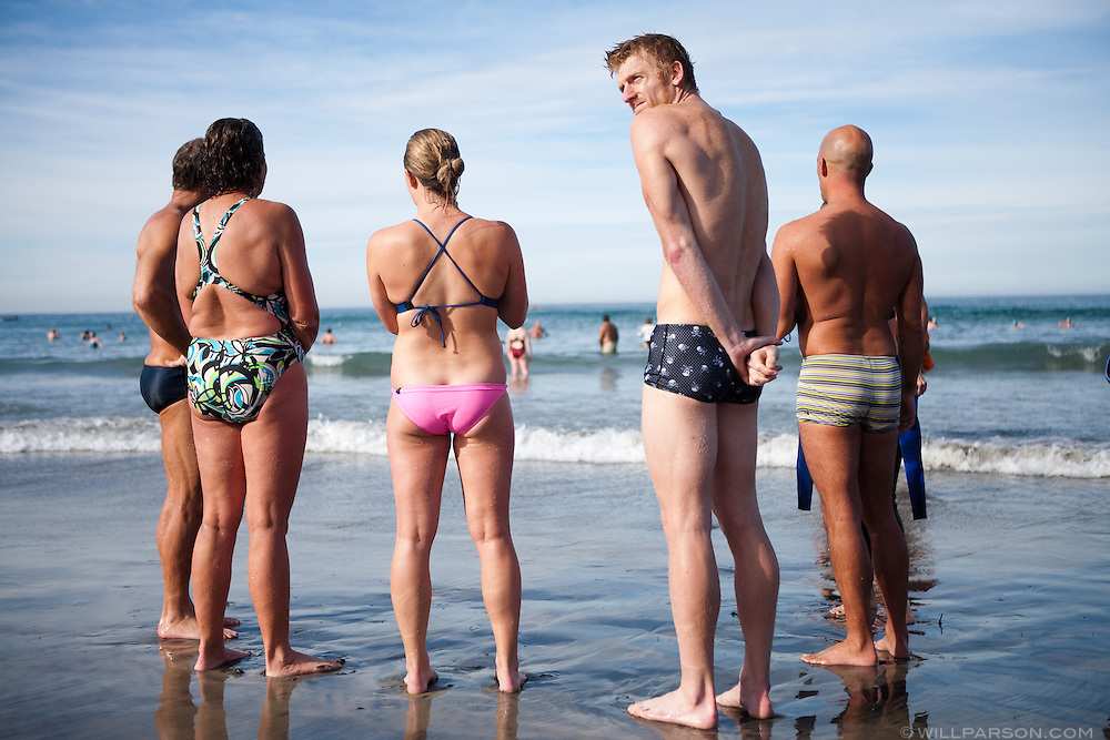 Stephen Banister tries to shrug off the cold after doing the Polar Plunge at La Jolla Shores Beach on New Year's Day.
