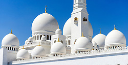 Detail of Sheikh Zayed Grand Mosque in Abu Dhabi united Arab Emirates