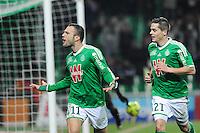 Joie Yohan MOLLO - 06.02.2015 - Saint Etienne / Lens - 24eme journee de Ligue 1 -<br />Photo : Jean Paul Thomas / Icon Sport