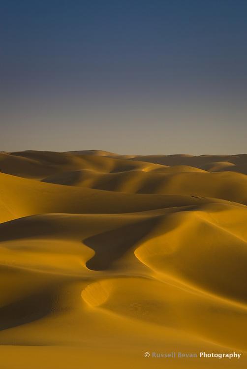 Golden Sand Dunes at Swakopmund, Namibia