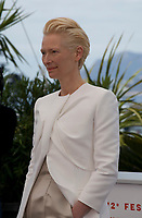 Actress Tilda Swinton at The Dead Don't Die film photo call at the 72nd Cannes Film Festival, Wednesday 15th May 2019, Cannes, France. Photo credit: Doreen Kennedy