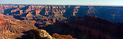 A panoramic view of the Grand Canyon from Point Sublime, North Rim, Arizona, USA