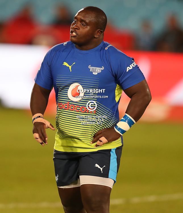 Trevor Nyakane of the Vodacom Bulls during the Super Rugby match between the Vodacom Bulls and the Jaguares at Loftus Versfeld, Pretoria,South Africa April 15th 2017 Photo by (Steve Haag)