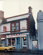 Old Dublin Amature Photos March 1983 WITH, Preretons Pawn Shop, Capel St, The Alcove, Ballsbridge, Donnollons Shop York Rd Dunlaire, Lodge BALLENTEER, Farm Gates, The Corner shop. Rathfarnham, School Inchicore, Quinns Butchers, Howth, agfa, chemist,