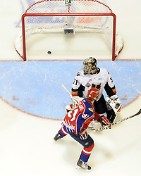 Game 2 of the MasterCard Memorial Cup in Brandon, MB on Saturday may 15, 2010. Photo by Aaron Bell/CHL Images