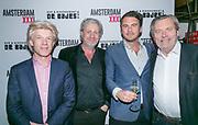 2018-03-20. De Bajes, Amsterdam. Lancering 6e editie van Amsterdam XXXL. Op de foto: Willem-Jan Ausma, Mark Teurlings, Jan Hein Kuijpers en Cees Korvinus