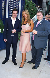 Left to right, HENRY DEEDES, CELIA WALDEN and JONATHAN IGSBY at a party hosted by Andrew neil and The Business Newspaper held at The Ritz, Piccadilly, London on 12th July 2005.<br />