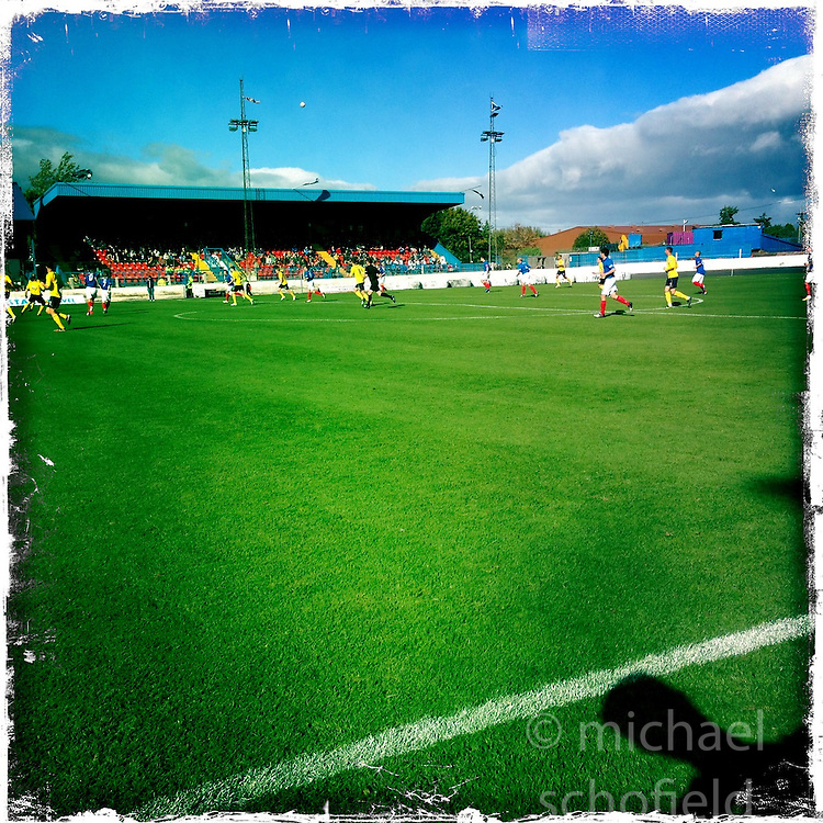 Cowdenbeath FC..Hipstamatic images taken on an Apple iPhone..©Michael Schofield.