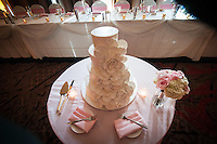 Wedding cake at the Hilton Hotel in Pittsburgh, PA