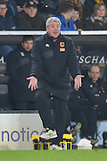 Hull City manager Steve Bruce  during the The FA Cup fifth round match between Hull City and Arsenal at the KC Stadium, Kingston upon Hull, England on 8 March 2016. Photo by Ian Lyall.