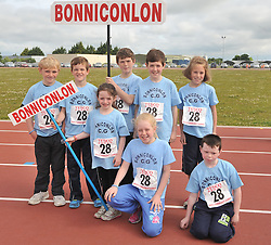 Bonniconlon team lined up for the parade at the Mayo Commmunity Games finals in Claremorris.<br /> Pic Conor McKeown