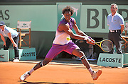 01.JUNE.2011. PARIS<br /> <br /> GAEL MONFILS AT THE TENNIS FRENCH OPEN 2011 AT ROLAND GARROS IN PARIS.<br /> <br /> BYLINE: EDBIMAGEARCHIVE.COM<br /> <br /> *THIS IMAGE IS STRICTLY FOR UK NEWSPAPERS AND MAGAZINES ONLY*<br /> *FOR WORLD WIDE SALES AND WEB USE PLEASE CONTACT EDBIMAGEARCHIVE - 0208 954 5968*