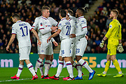Goal Chelsea Celebrate as Michy Batshuayi Chelsea scores a goal 0-1  during the The FA Cup match between Hull City and Chelsea at the KCOM Stadium, Kingston upon Hull, England on 25 January 2020.