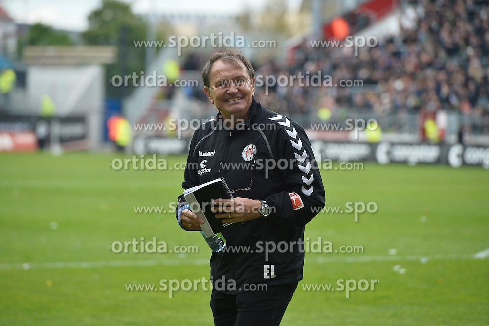 Football: Germany, 2. Bundesliga, 17.05.2015<br />Ewald Lienen (Coach FC St. Pauli)<br />&copy; pixathlon