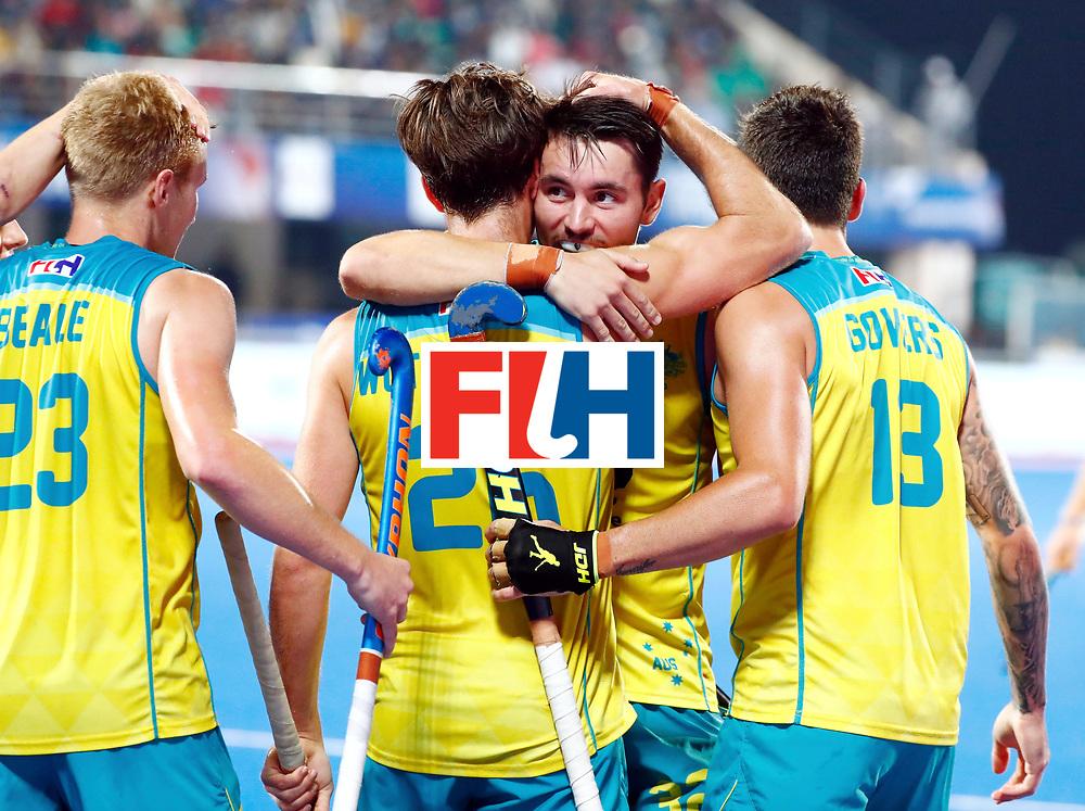 Odisha Men's Hockey World League Final Bhubaneswar 2017<br /> Match id: 20<br /> Australia v Germany<br /> Foto:Dylan Wotherspoon (Aus) scored 1-1<br /> COPYRIGHT WORLDSPORTPICS KOEN SUYK