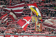 Bayern Munich fans and flags during the Champions League match between Bayern Munich and Liverpool at the Allianz Arena, Munich, Germany, on 13 March 2019.