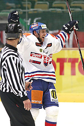 13.11.2010, Olympiahalle, Muenchen, GER, Deutschlandcup , Slovakei vs Deutschland , im Bild Freude bei Somik Radovan (Slovakia #44) nach dem Siegtreffer zum 3-2 , EXPA Pictures © 2010, PhotoCredit: EXPA/ nph/  Straubmeier+++++ ATTENTION - OUT OF GER +++++
