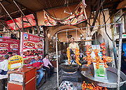 India, Delhi. Urdu Bazar restaurants.