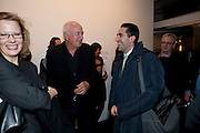 AMIR SHARIAT; DON RUBELL, 'Engagement' exhibition of work by Jennifer Rubell. Stephen Friedman Gallery. London. 7 February 2011. -DO NOT ARCHIVE-© Copyright Photograph by Dafydd Jones. 248 Clapham Rd. London SW9 0PZ. Tel 0207 820 0771. www.dafjones.com.