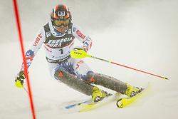 "Alexander Khoroshilov (RUS) during FIS Alpine Ski World Cup 2016/17 Men's Slalom race named ""Snow Queen Trophy 2017"", on January 5, 2017 in Course Crveni Spust at Sljeme hill, Zagreb, Croatia. Photo by Ziga Zupan / Sportida"