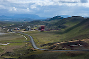 Krafla's location near Lake Mývatn makes it an ideal stopping place for travellers in north Iceland. Just above the station is a popular hiking area including the recent lava field around Leirhnjúkur and the explosion crater Víti (Hell), both popular sightseeing attractions.