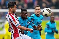 TILBURG - 19-02-2017, Willem II - AZ, Koning Willem II Stadion, 1-1, Willem II speler Guus Joppen, AZ speler Derrick Luckassen