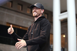 Callum Smith during the public work-out at the Brookfield Place, New York.