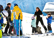 Col de Bretaye 10-02-2015<br /> <br /> <br /> Photo session with Prince Joachim and  Princess Marie with their children at their ski holidays at Col de Bretaye , Switserland.<br /> <br /> <br /> <br /> Photo: Bernard Ruebsamen/Royalportraits Europe