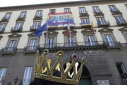 June 24, 2017 - Napoli, Campania/Napoli, Italy - Gay Pride 2017 show in Naples started under the town hall. (Credit Image: © Fabio Sasso/Pacific Press via ZUMA Wire)