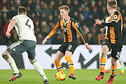 Hull City Midfielder Sam Clucas during the EFL Cup semi final match 2 between Hull City and Manchester United at the KCOM Stadium, Kingston upon Hull, England on 26 January 2017. Photo by Phil Duncan.
