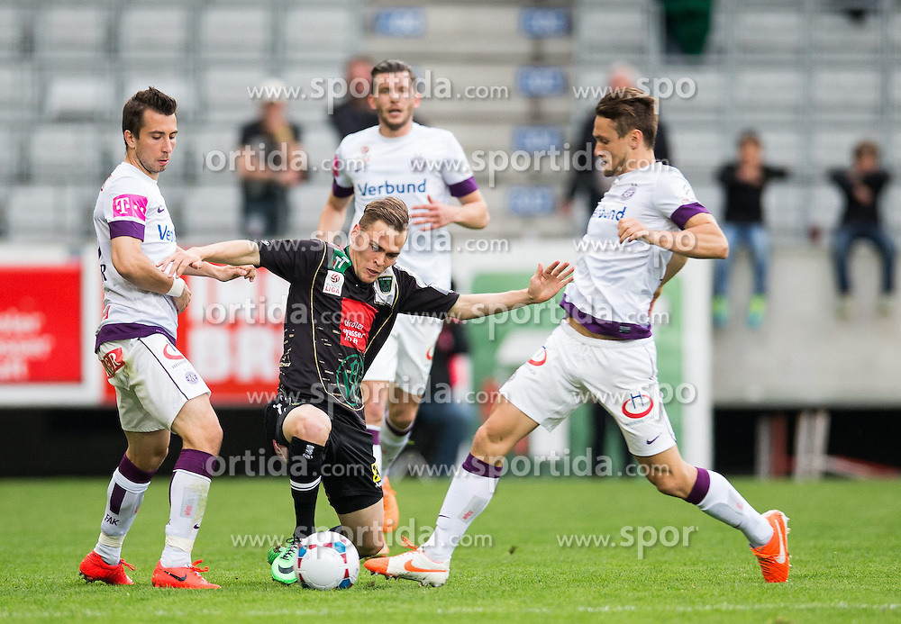 26.04.2014, Tivoli Stadion, Innsbruck, AUT, 1. FBL, FC Wacker Innsbruck vs Austria Wien, 34. Runde, im Bild (v.l.) Kapitän Markus Suttner (FK Austria Wien), Alexander Gründler (FC Wacker Innsbruck), Christian Ramsebner (FK Austria Wien) // (v.l.) Kapitän Markus Suttner (FK Austria Wien), Alexander Gründler (FC Wacker Innsbruck), Christian Ramsebner (FK Austria Wien) during Austrian Bundesliga 34th round match between FC Wacker Innsbruck and Austria Wien at the Tivoli Stadion in Innsbruck, Austria on 2014/04/26. EXPA Pictures © 2014, PhotoCredit: EXPA/ Johann Groder
