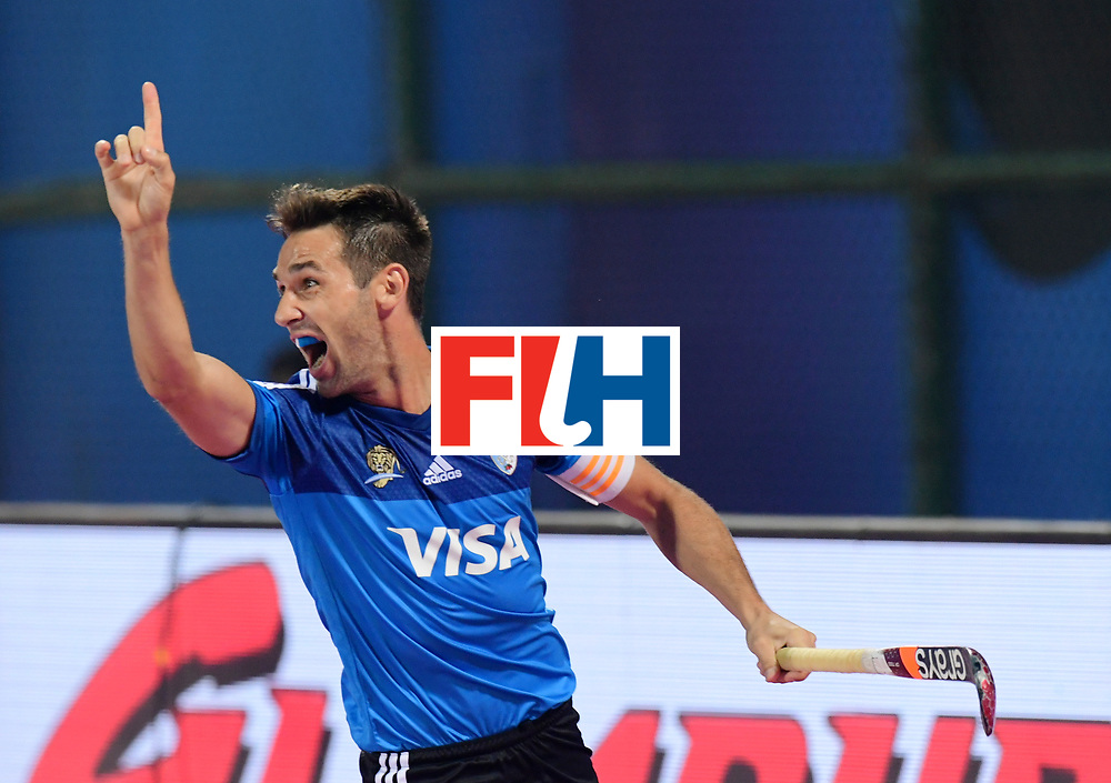 Odisha Men's Hockey World League Final Bhubaneswar 2017<br /> Match id:11<br /> Argentina v Spain<br /> Foto: Matias Paredes (Arg) scored a goal<br /> COPYRIGHT WORLDSPORTPICS FRANK UIJLENBROEK