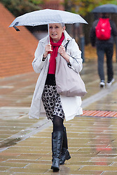 © Licensed to London News Pictures. 29/10/2015. Leeds, UK. Cherie Blair's stepmother Stephanie Booth arrives at Leeds Magistrates Court. Booth is accused of the theft of a bin used to hold sand from her neighbour David Morgan. The alleged offence took place on December 4 last year. Photo credit: Andrew McCaren/LNP