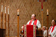 The Rev. Dr. David P.E. Maier, president of the LCMS Michigan District and chairman of Synod's Council of Presidents, addresses the candidates during The Order of Vespers with Distribution of Calls into the Holy Ministry on Tuesday, April 30, 2019, in Kramer Chapel at Concordia Theological Seminary, Fort Wayne, Ind.  LCMS Communications/Erik M. Lunsford