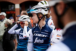 Abi van Twisk (GBR) waits for sign on at Boels Ladies Tour 2019 - Stage 3, a 156.8 km road race starting and finishing in Nijverdal, Netherlands on September 6, 2019. Photo by Sean Robinson/velofocus.com