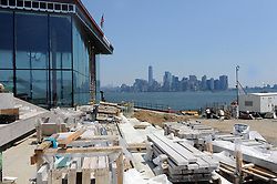 The still under-construction view of the Statue of Liberty Museum, on Liberty Island in New York City, NY, USA on July 2, 2018. The 26,000 square-foot museum will celebrate the history of the Statue of Liberty and will be home to the original torch. Photo by Dennis Van Tine/ABACAPRESS.COM