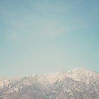 The Sierra Nevada mountain range off highway 395 in California.