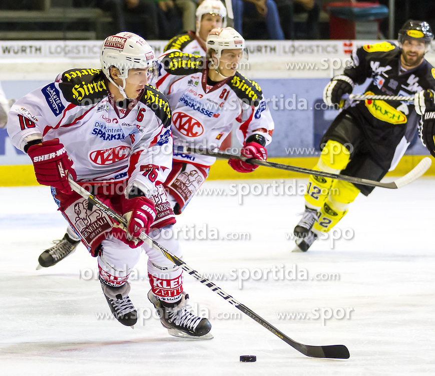 12.10.2012. Messestadion, Dornbirn, AUT, EBEL, Dornbirner EC vs EC KAC, 11. Runde, im Bild Patrick Harand, (EC KAC, #16) during the Erste Bank Icehockey League 11nd round match between Dornbirner EC and EC KAC at the Exhibition Stadium, Dornbirn, Austria on 2012/10/12, EXPA Pictures © 2012, PhotoCredit: EXPA/ Peter Rinderer