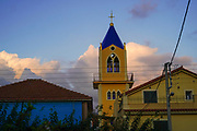 Church and belfry, Argostoli on the Greek Island of Cephalonia, Ionian Sea, Greece