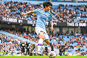 Manchester City Women forward Lee Geum-min (17) in action during the FA Women's Super League match between Manchester City Women and Manchester United Women at the Sport City Academy Stadium, Manchester, United Kingdom on 7 September 2019.