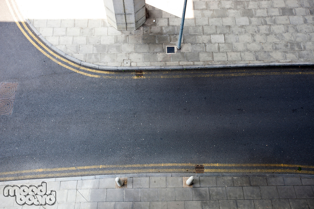 Aerial View of empty street
