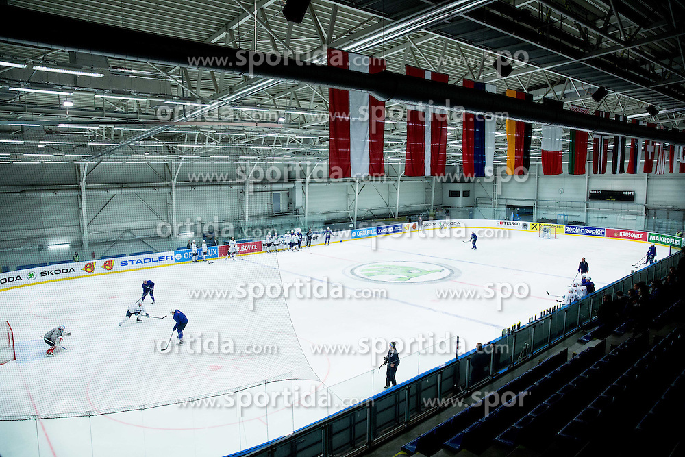 Arena during practice session of Slovenian National Ice Hockey Team 1 day prior to the 2015 IIHF World Championship in Czech Republic, on April 30, 2015 in Practice arena Ostrava, Czech Republic. Photo by Vid Ponikvar / Sportida