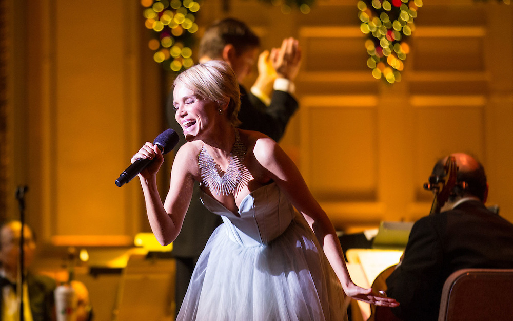 Kristen Chenoweth performing with Boston Pops, Symphony Hall, Boston